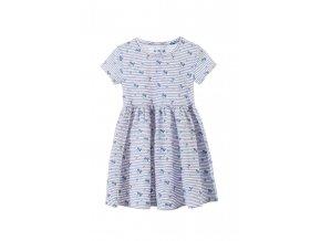 Dívčí šaty krátký rukáv s potiskem