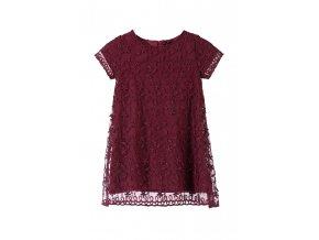 Dívčí tmavě červené společenské šaty