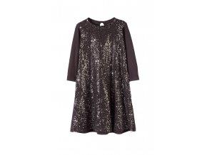 Dívčí společenské šaty s flitry