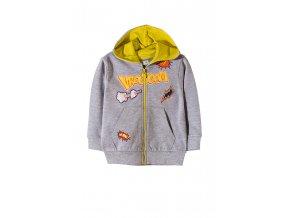 Chlapecká mikina na zip s kapucí