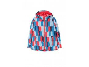 Dívčí softshellová barevná bunda s kapucí