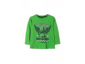 Chlapecké zelené tričko dlouhý rukáv s potiskem