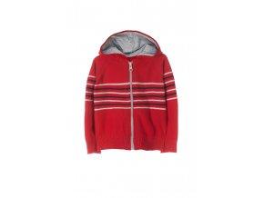 Kojenecký svetr na zip s kapucí