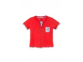 Kojenecké tričko krátký rukáv s kapsičkou