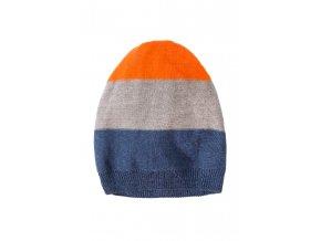 Chlapecká barevná čepice proužkovaná
