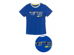 Chlapecké tričko krátký rukáv s efektním potiskem brýlí