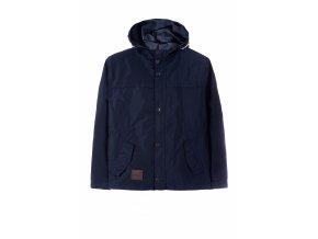 Chlapecká tmavě modrá přechodová bunda s kapucí