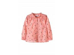 Dívčí košilová halenka se stojáčkem