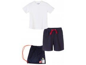 Chlapecký komplet - tričko krátký rukáv, kraťasy a pytlík