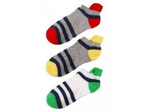Chlapecké krátké ponožky s patou - 3 páry v balení
