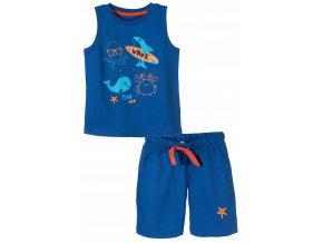Chlapecké pyžamo bez rukávů a krátké nohavice Moře