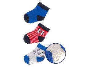 Kojenecké bavlněné ponožky - 3 páry v balení