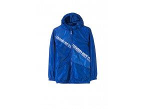 Chlapecká modrá bunda (větrovka) s fleecovou podšívkou