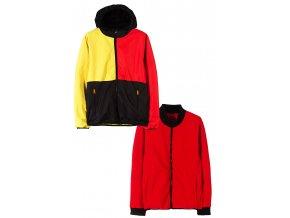 Chlapecká přechodová barevná bunda 2v1 (větrovka a mikina)