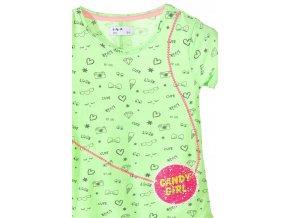 Dívčí tričko krátký rukáv s potiskem a měnícími se flitry