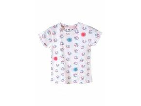 Kojenecké tričko krátký rukáv s potiskem