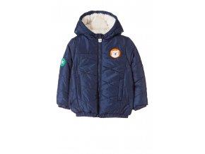 Kojenecká zimní bunda s kožešinovou kapucí a fleecovou podšívkou