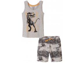 Chlapecké pyžamo bez rukávů a krátké nohavice Dino