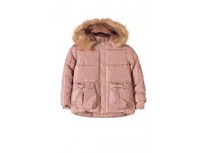 Dívčí zimní bunda s kapucí a kožešinkou