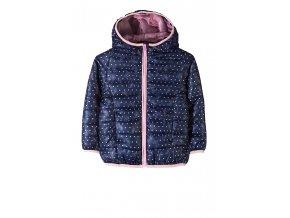 Dívčí přechodová bunda s kapucí a potiskem