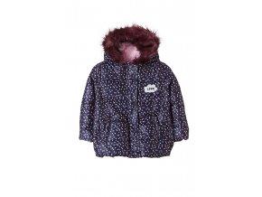 Kojenecká zimní bunda s kožešinovou kapucí