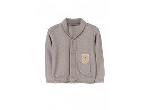 Kojenecký svetr na knoflíky s kapsičkou