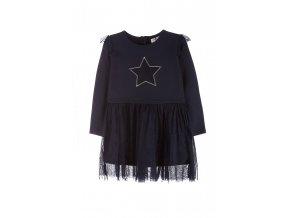 Dívčí bavlněné šaty s tylovou sukní