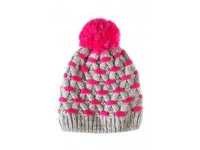 Dívčí pletená čepice s podšívkou