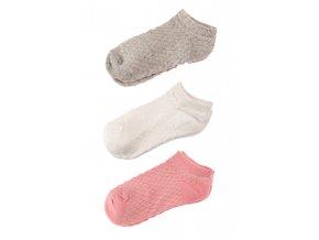 Dívčí krátké ponožky - 3 páry v balení