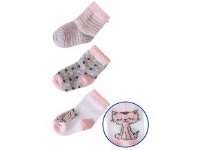 Kojenecké ponožky s puntíky - 3 páry v balení