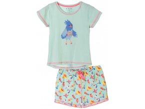 Dívčí pyžamo krátký rukáv Birds