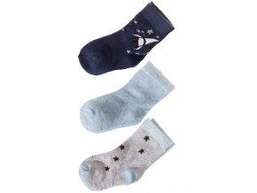 Kojenecké ponožky vesmír - 3 páry v balení