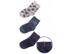 Kojenecké ponožky stroje - 3 páry v balení