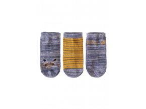 Kojenecké ponožky melírované - 3 páry v balení