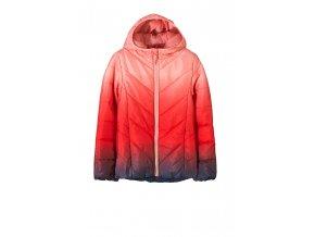 Dívčí prošívaná bunda s kapucí