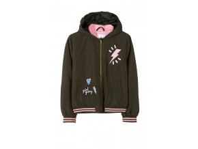 Dívčí bunda (větrovka) s kapucí