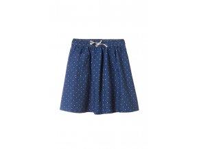 Dívčí puntíkatá sukně s kapsou