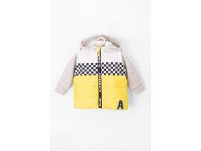 Kojenecká přechodová bunda (vesta s odepínacími rukávy a kapucí)