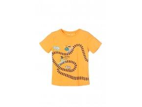 Chlapecké tričko krátký rukáv s potiskem železnice