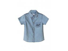 Chlapecká džínová košile krátký rukáv