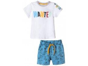 Chlapecký komplet Wanted - tričko krátký rukáv a kraťasy
