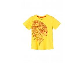 Chlapecké tričko krátký rukáv s potiskem (barva ORANŽOVÁ)