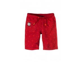 Chlapecké červené šortky s kapsami