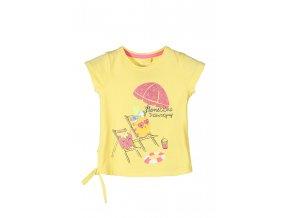 Dívčí tričko krátký rukáv s potiskem a na zavázání