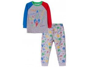 Chlapecké pyžamo dlouhý rukáv Space
