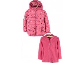 Dívčí zimní bunda s kapucí 2v1 (bunda a mikina)