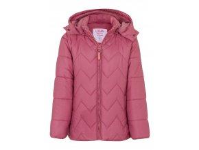 Dívčí zimní bunda s odepínací kapucí