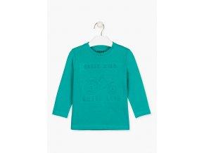 Chlapecké tričko dlouhý rukáv s plastickým 3D potiskem (různé barvy)