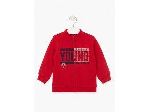 Chlapecká mikina Young na zip bez kapuce (různé barvy)