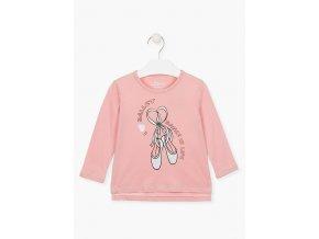 Dívčí tričko dlouhý rukáv s potiskem (různé barvy)